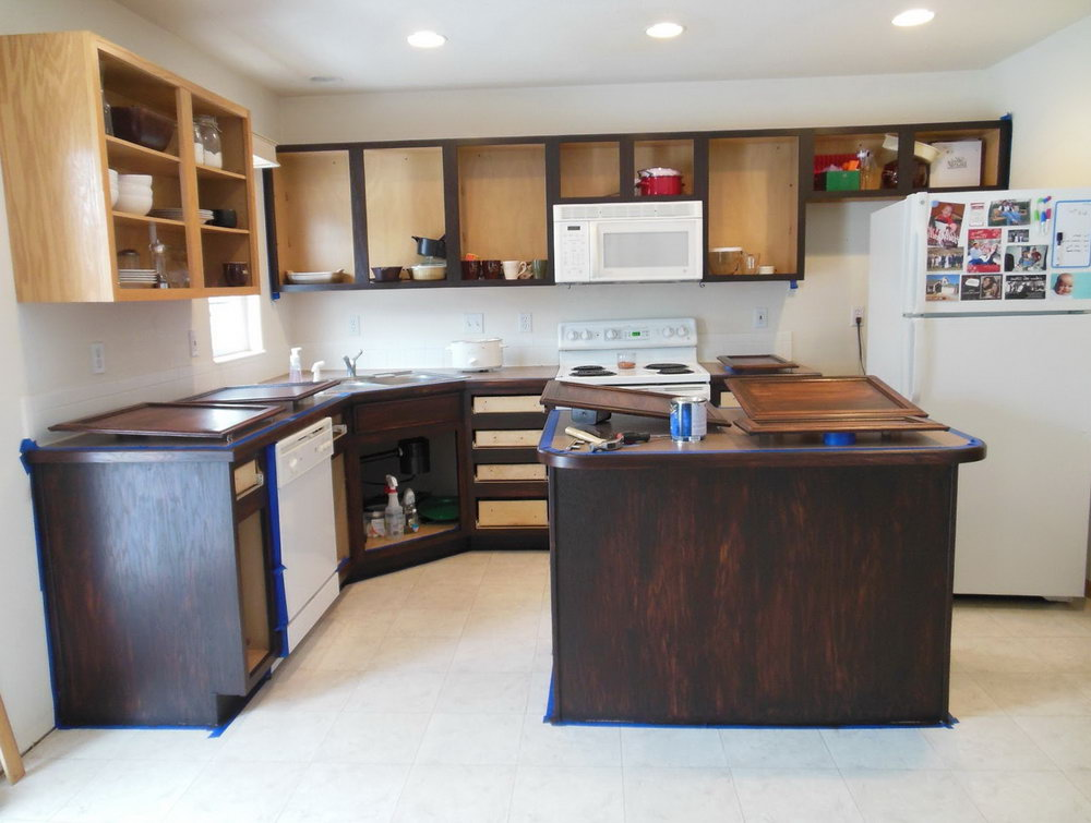 Java Gel Stain Kitchen Cabinets