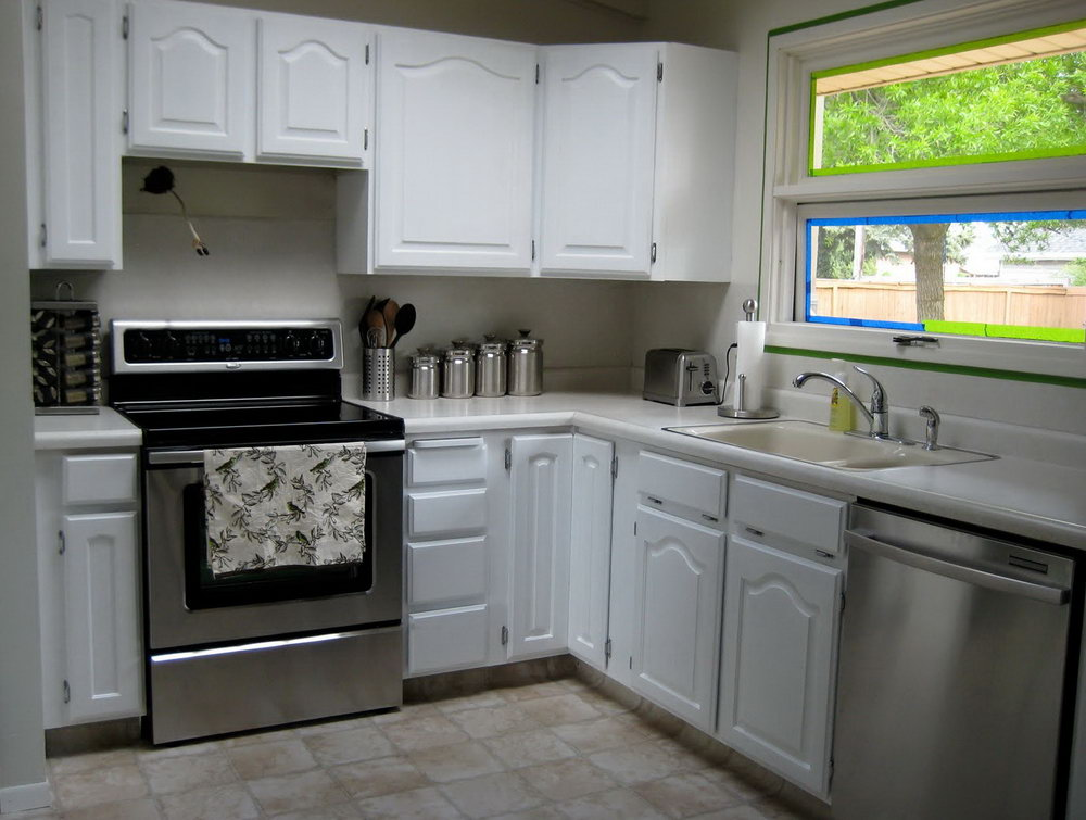 Kitchen Cabinet Makeover With Chalk Paint