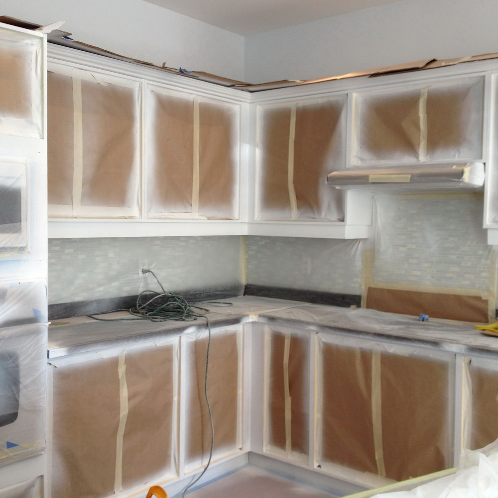 Kitchen Cabinet Spray Painting Melbourne