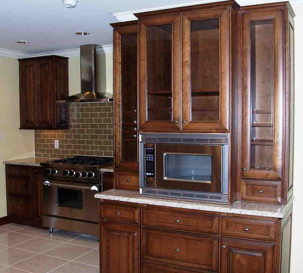Kitchen Cabinet With Microwave Shelf
