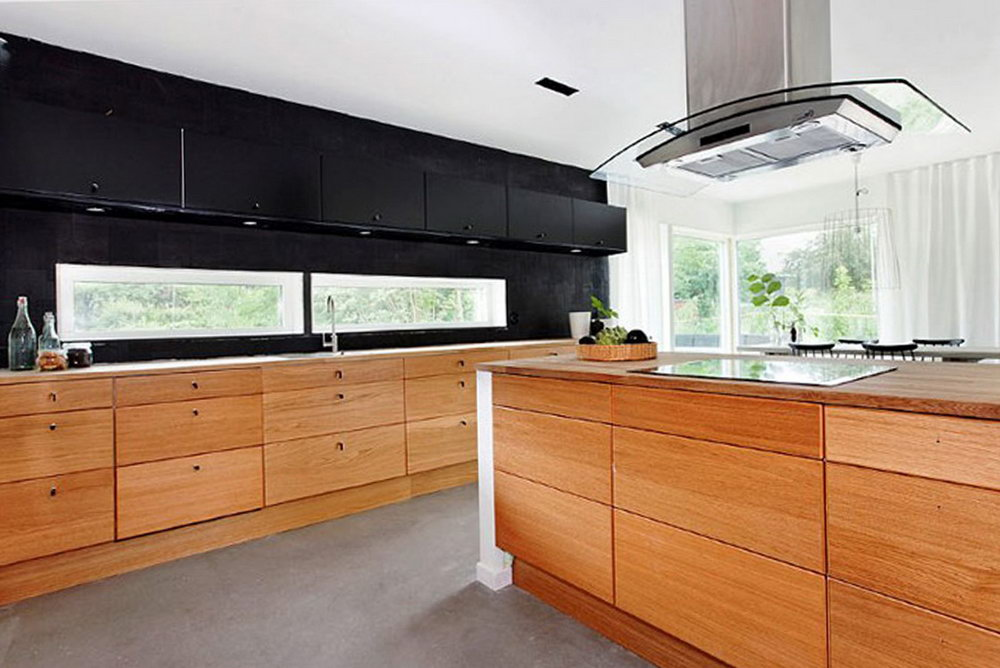 Kitchen Cabinets Black And Wood
