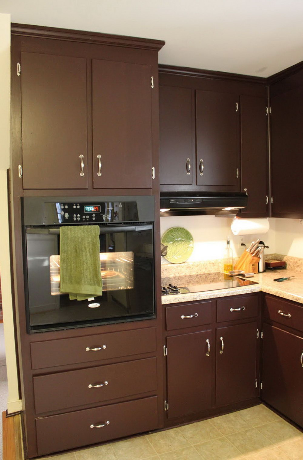 Kitchen Cabinets Painted Brown