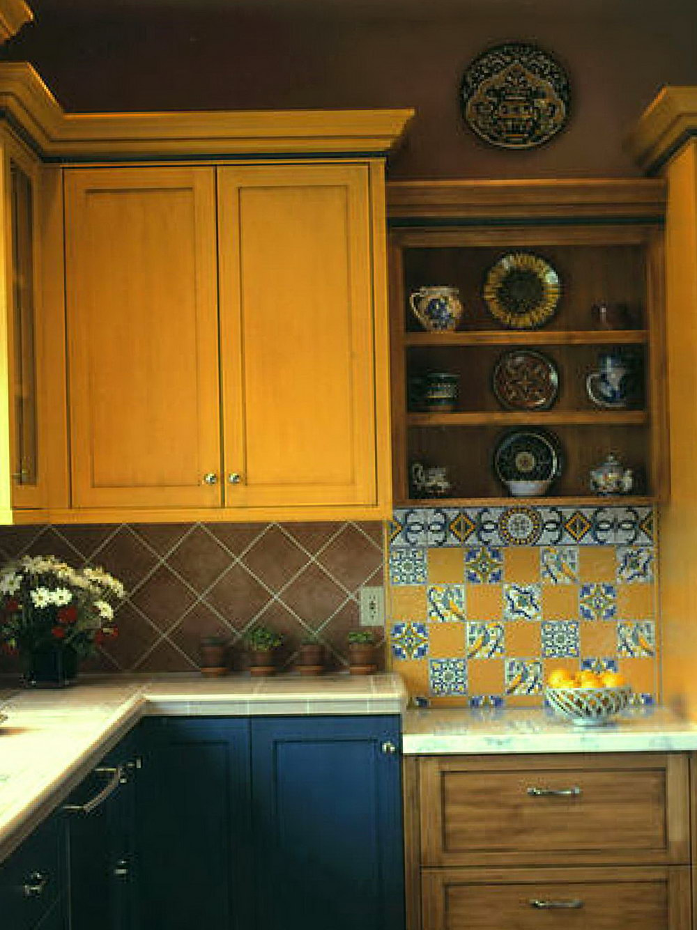 Kitchen Cabinets Painted Different Colors