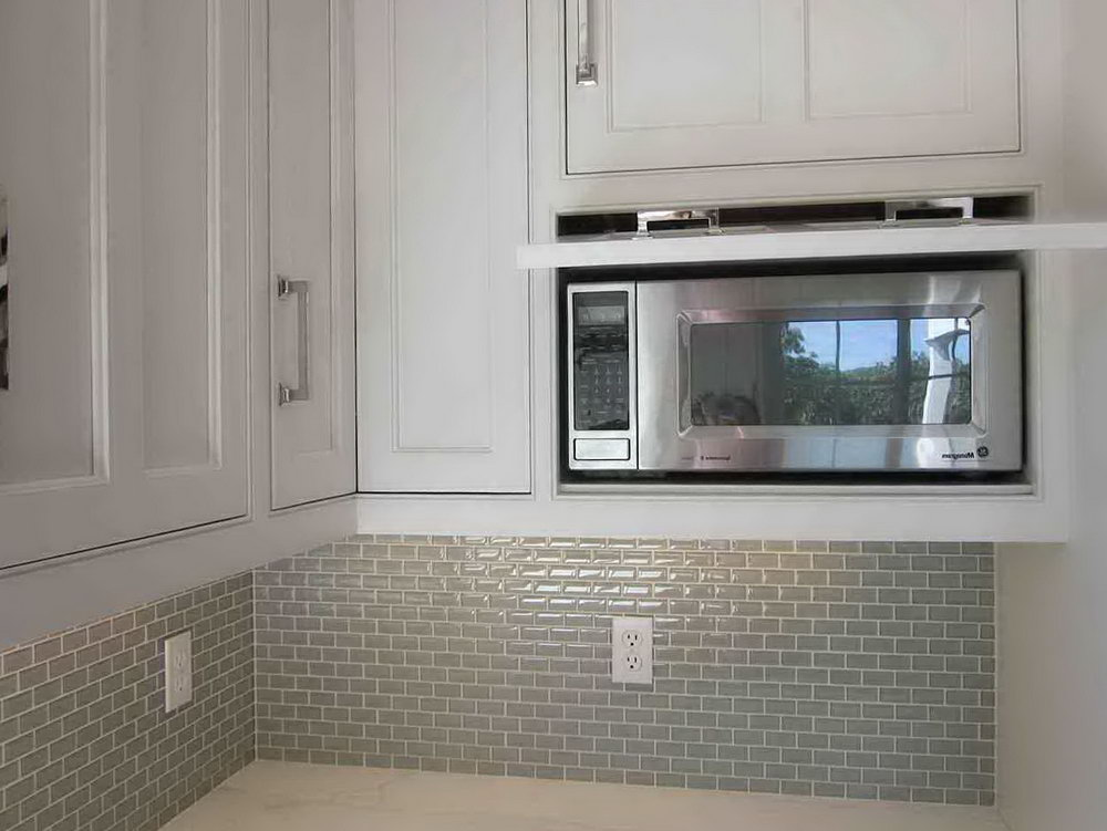 Kitchen Cabinets With Microwave Over Stove