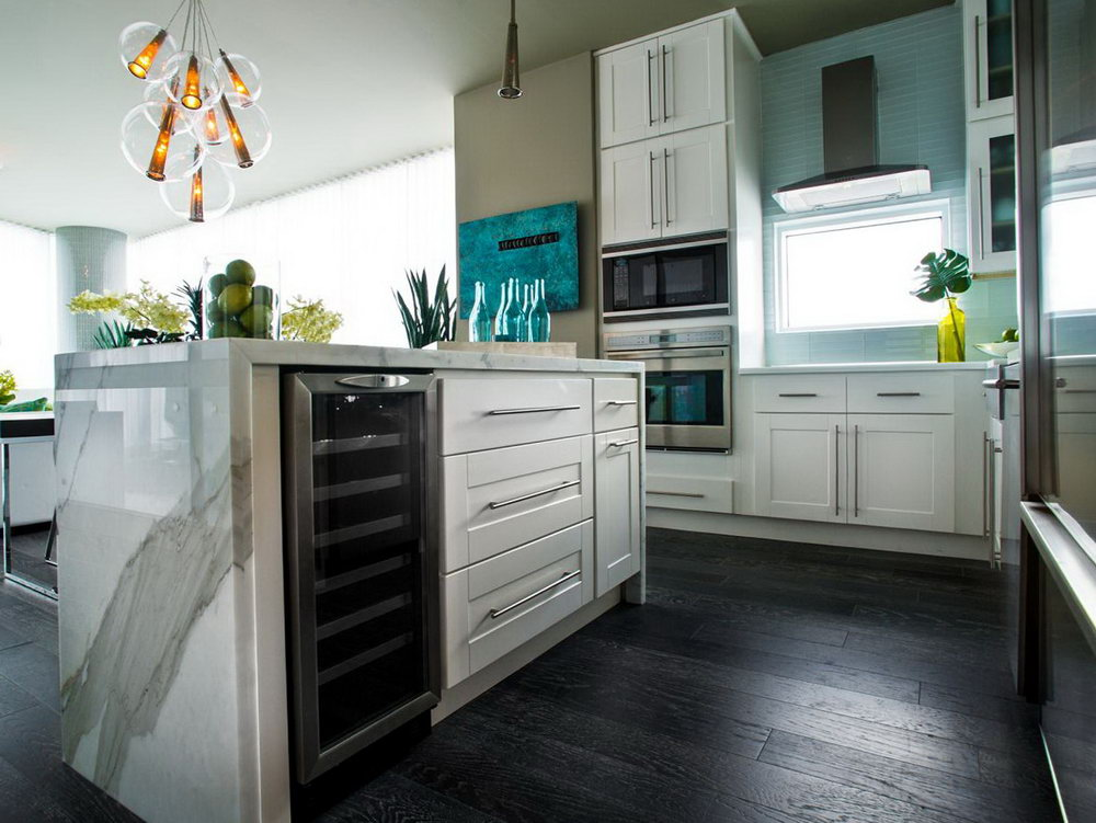Kitchen Cabinets With Wine Cooler