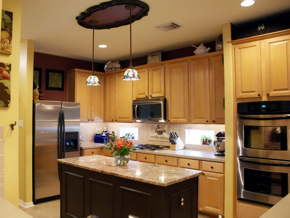 Kitchen Design With Different Color Cabinets