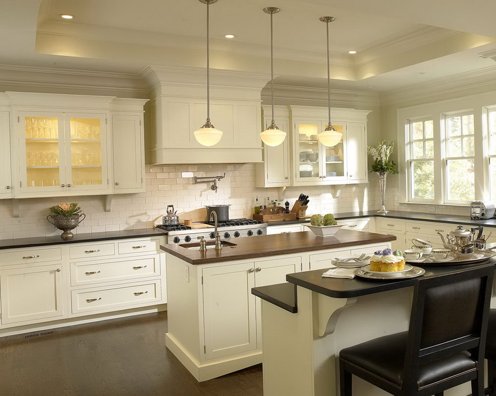 Kitchen Floor Ideas With White Cabinets