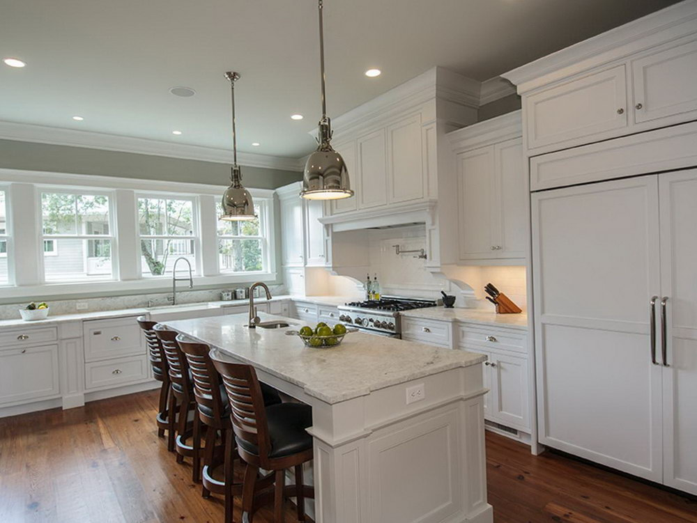 Kitchen Island Colors With White Cabinets