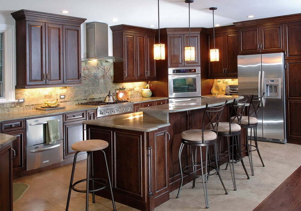 Kitchen Paint Colors With Cherry Wood Cabinets