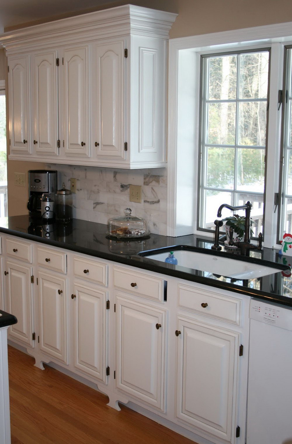 Kitchen White Cabinet Black Countertop