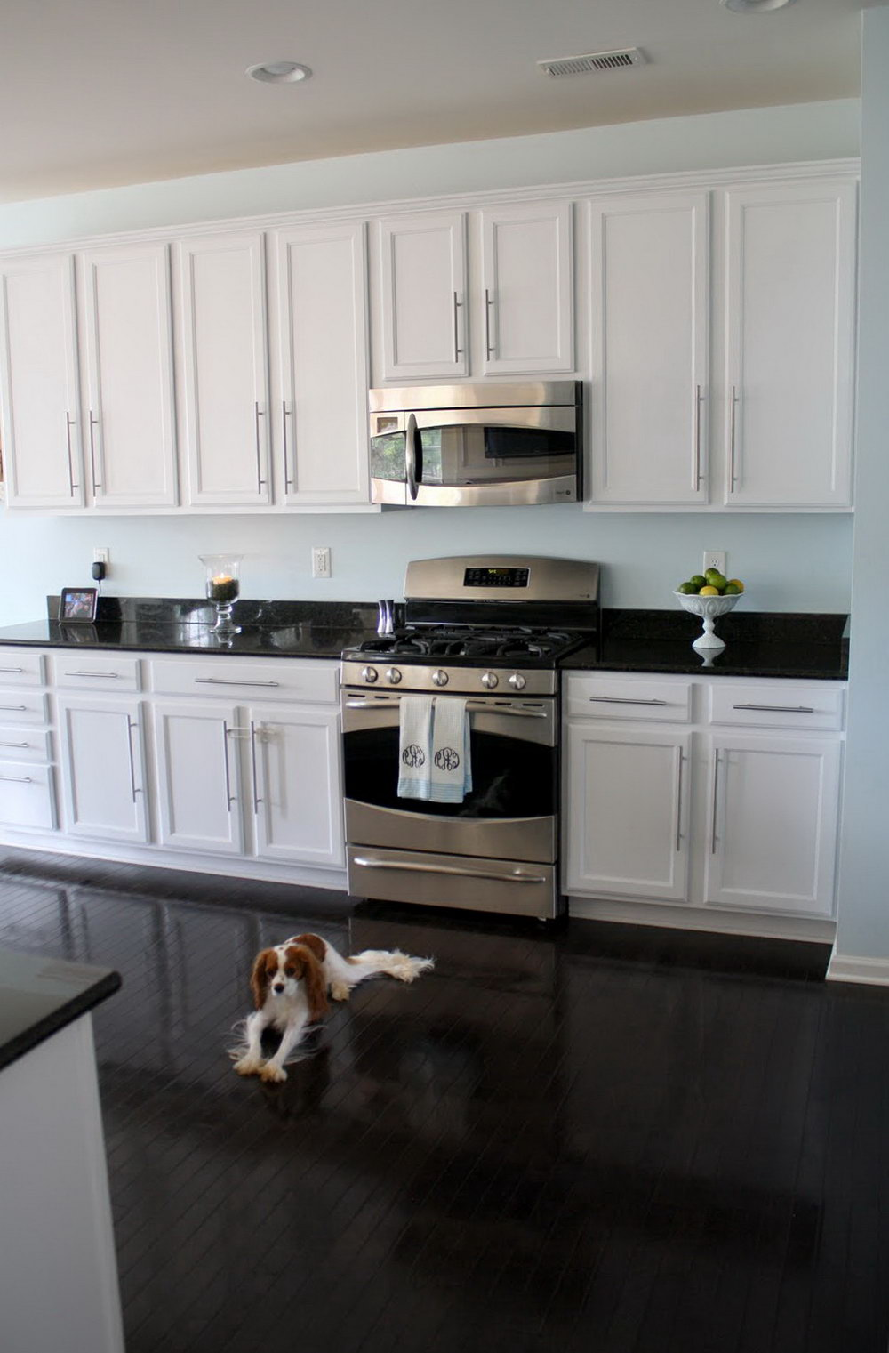 Kitchen White Cabinets Black Granite