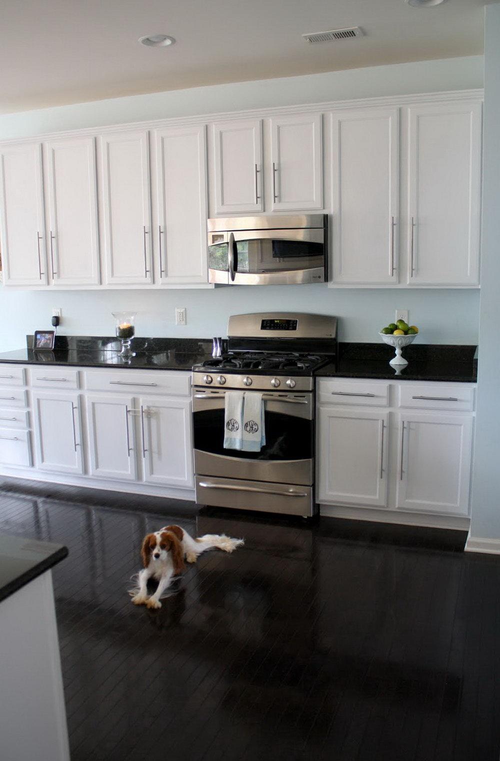 Kitchen White Cabinets Black Granite