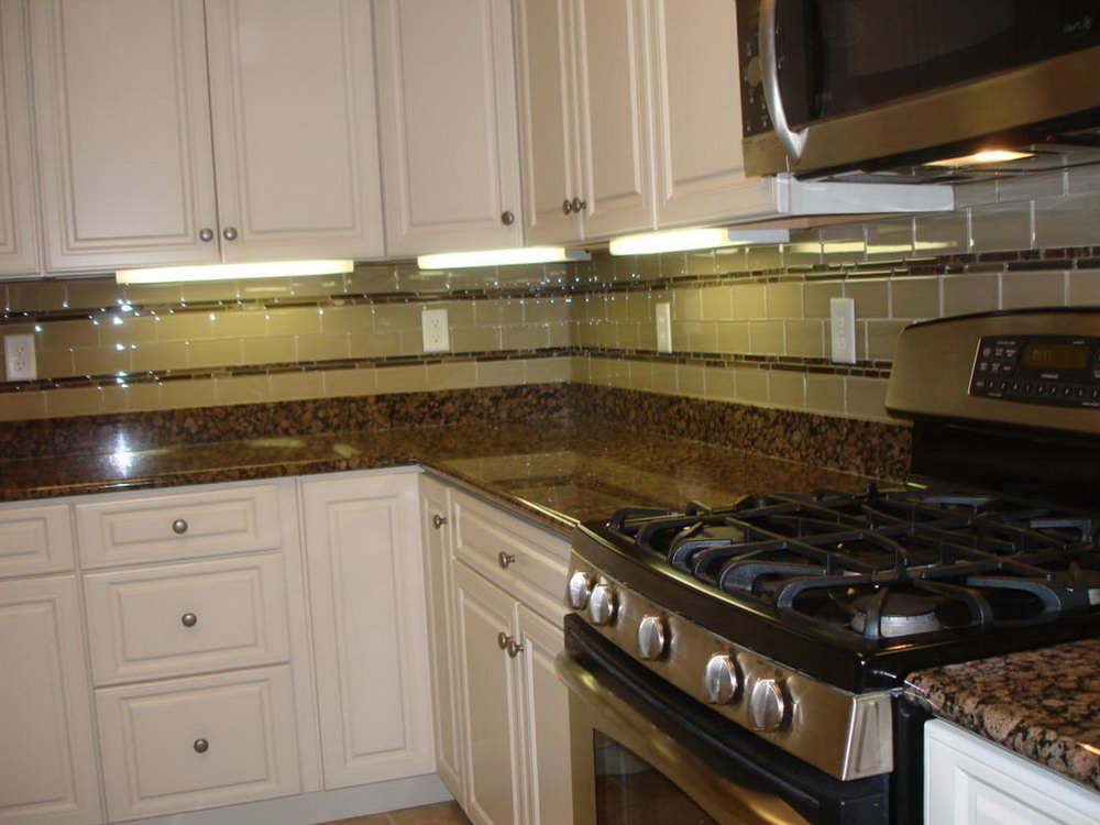 Kitchen White Cabinets Brown Countertops