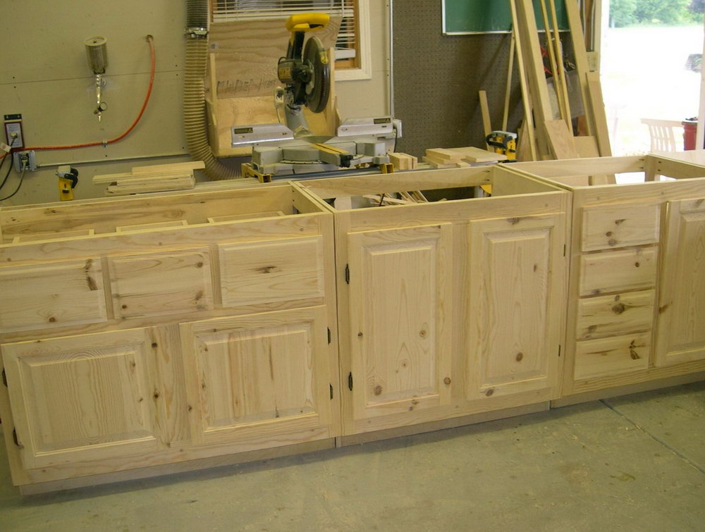Knotty Pine Kitchen Cabinets Painted White