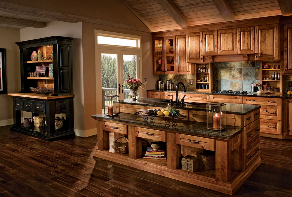 Kraftmaid Hickory Kitchen Cabinets