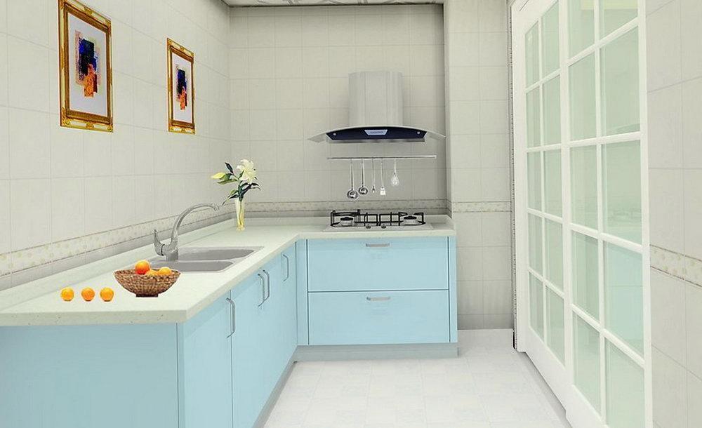 Light Blue Cabinets Kitchen