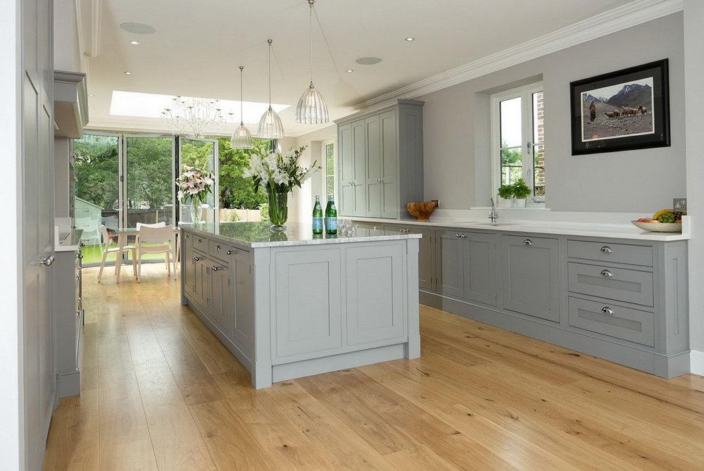 Light Blue Gray Kitchen Cabinets