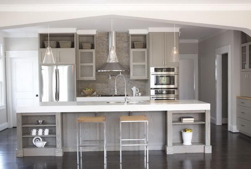Light Gray Cabinets Kitchen