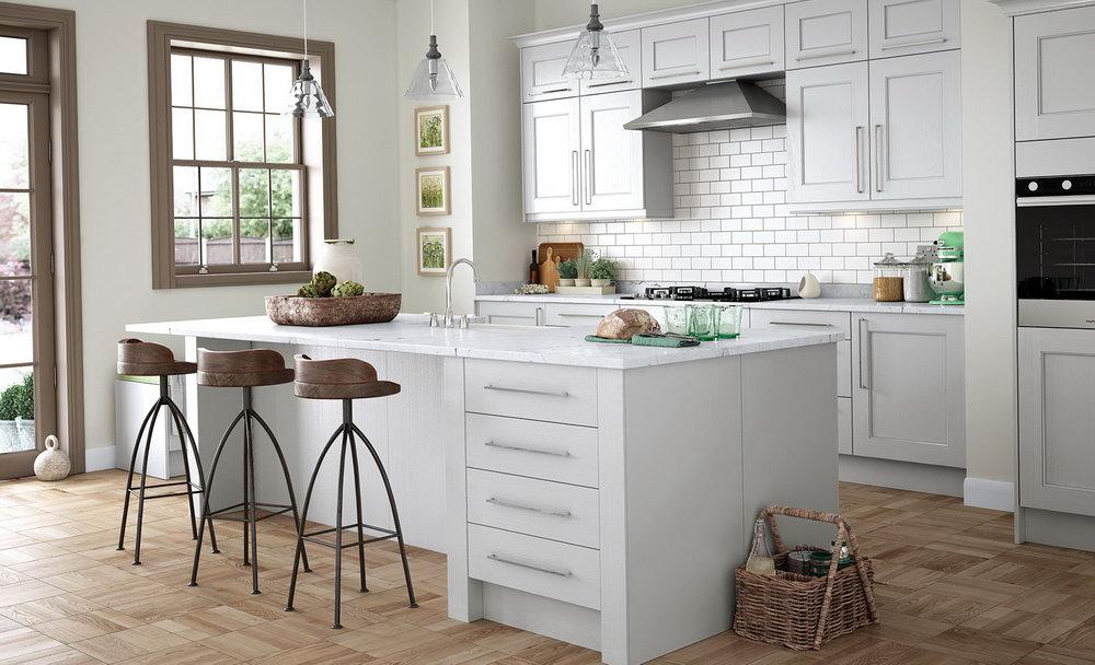 Light Gray Shaker Kitchen Cabinets