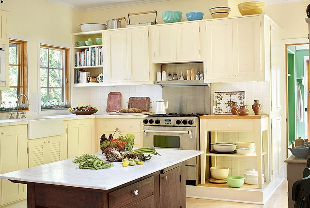 Light Yellow Kitchen Cabinets