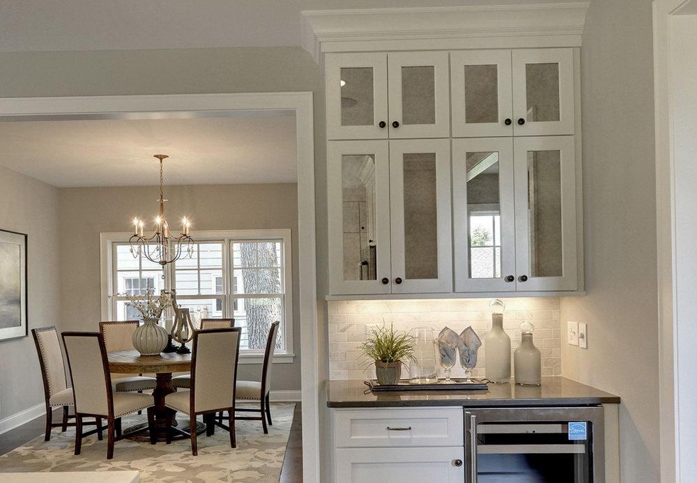 Mirrored Glass Kitchen Cabinets