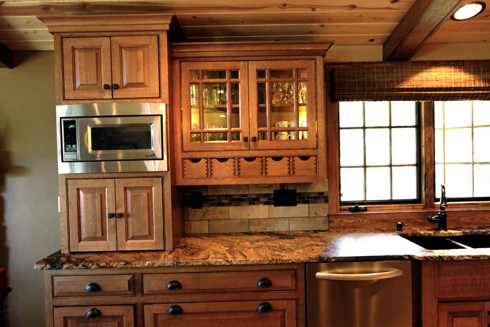 Mission Style Hickory Kitchen Cabinets