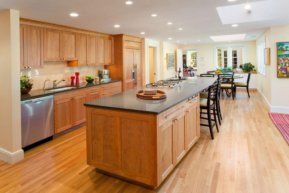 Modern Birch Kitchen Cabinets
