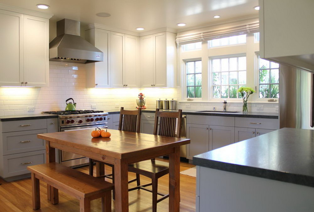 Modern Two Toned Kitchen Cabinets