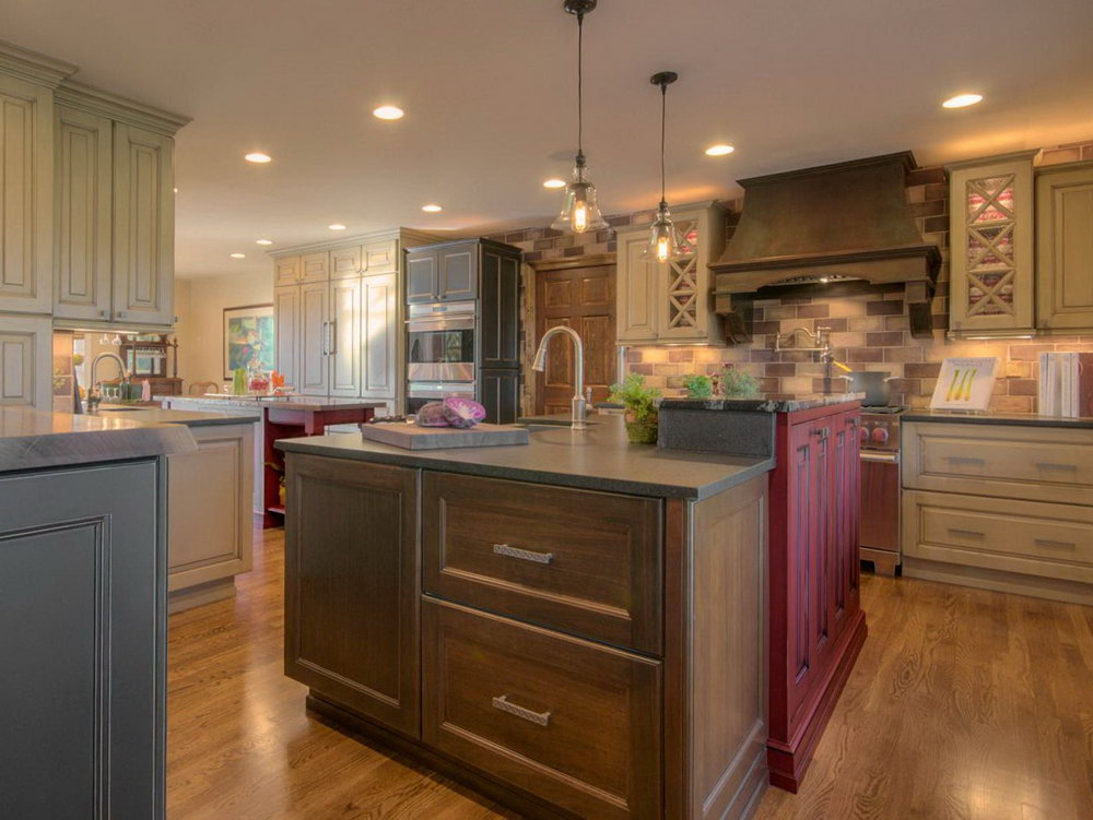 Multi Colored Kitchen Cabinets