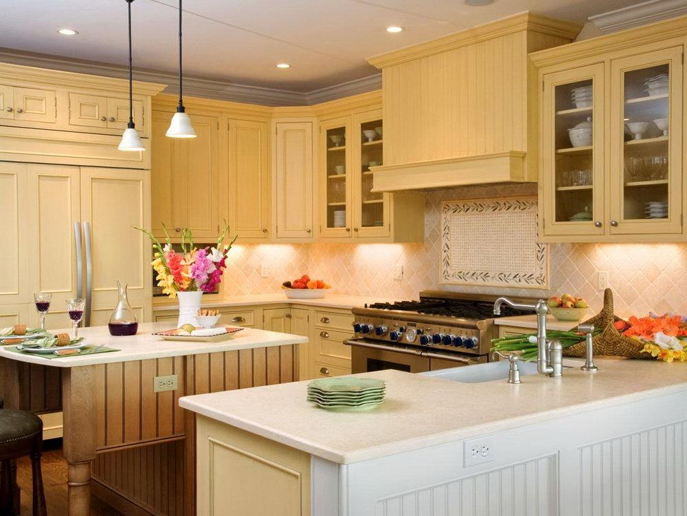 Mustard Yellow Kitchen Cabinets