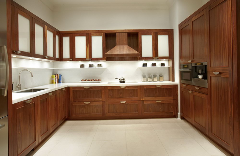 Natural Walnut Kitchen Cabinets
