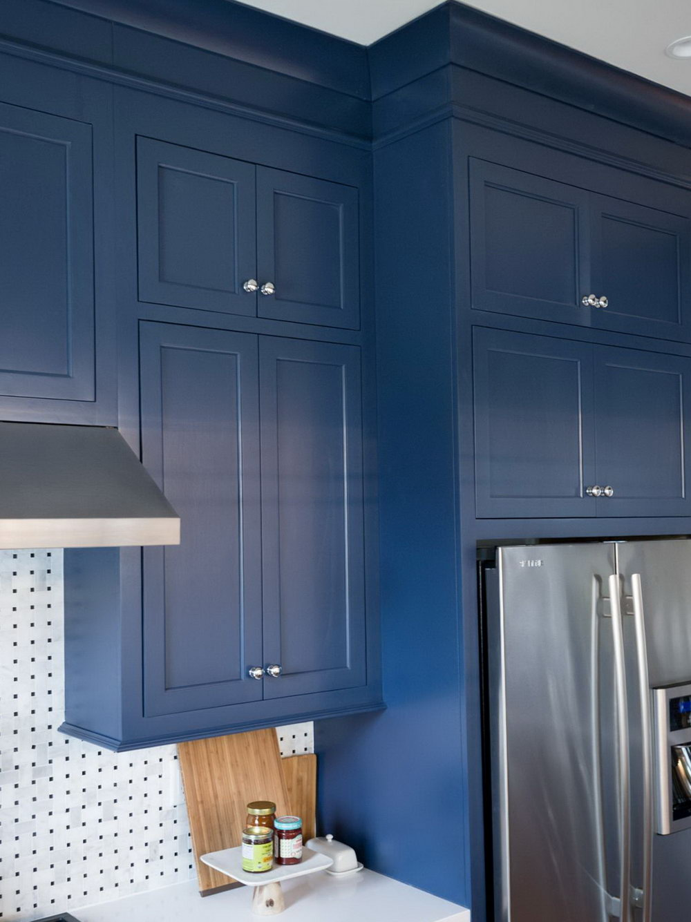 Navy Blue Cabinets Kitchen