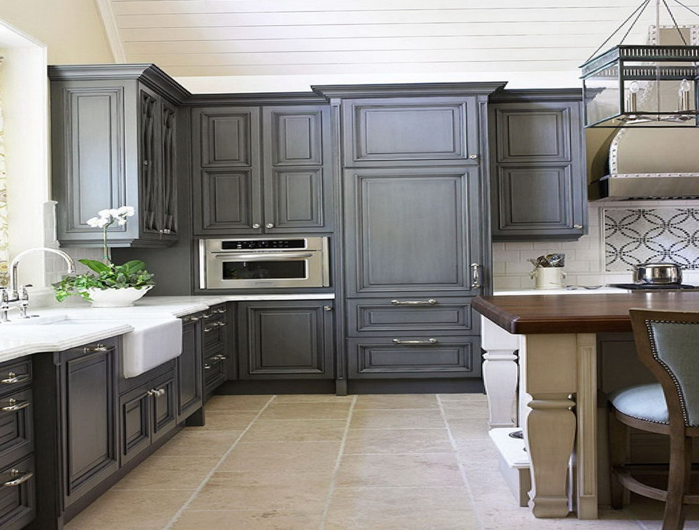 Old Kitchen Cabinets Painted Black