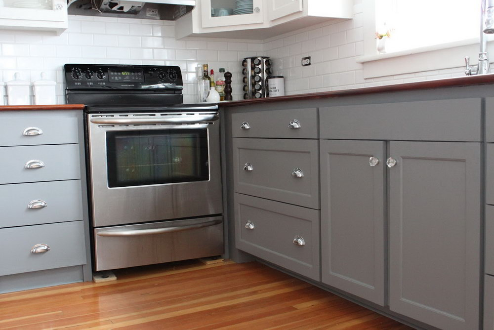 Old Kitchen Cabinets Painted Grey