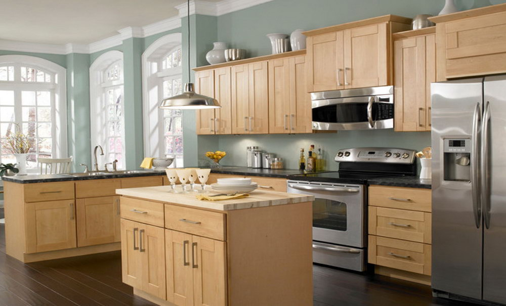 Paint Colors For Kitchen With Wood Cabinets