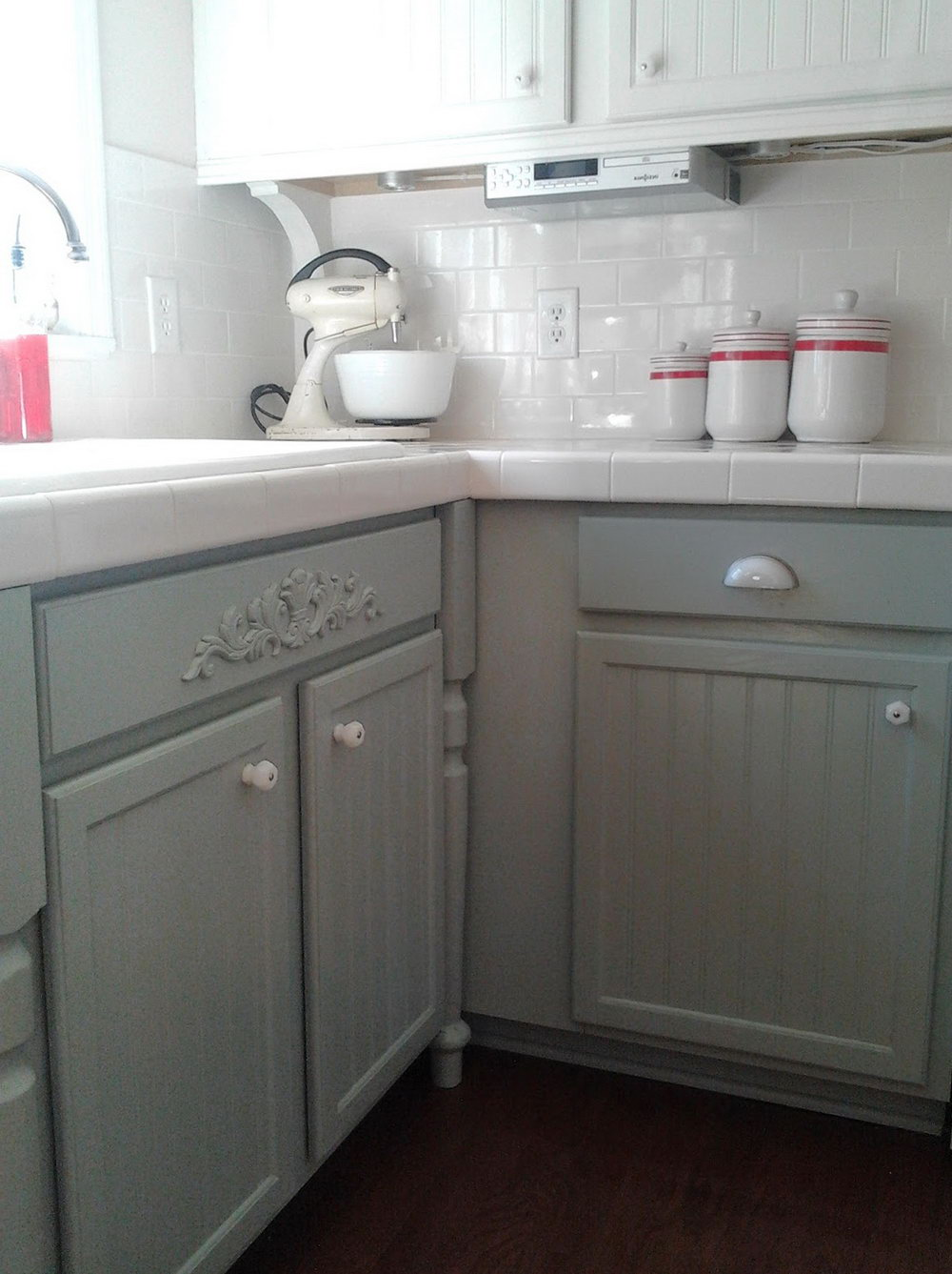 Painting Kitchen Cabinets Before And After Grey