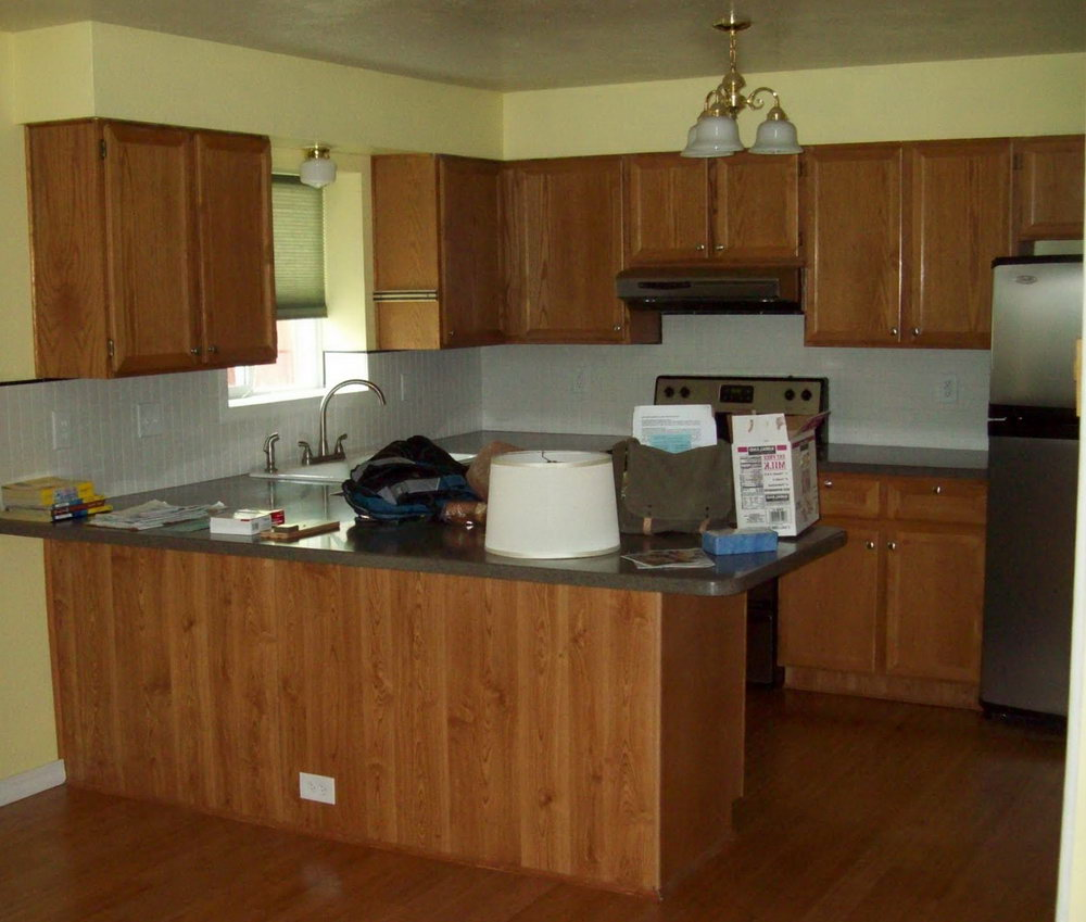 Painting Oak Kitchen Cabinets Before And After