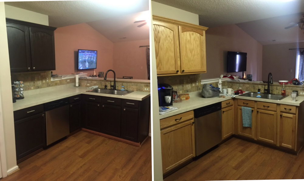 Painting Old Kitchen Cabinets Before And After