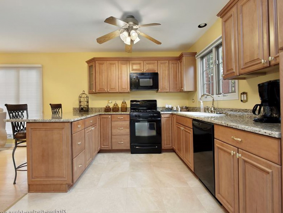Pale Yellow Kitchen Cabinets