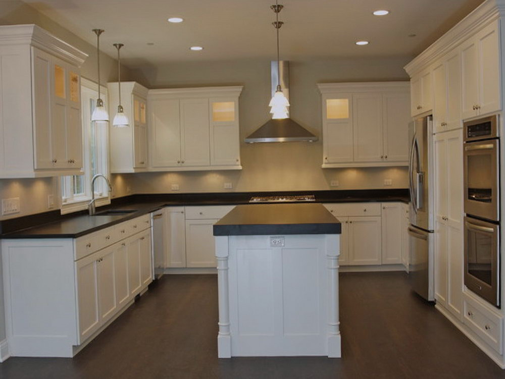 Plain Flat Kitchen Cabinets