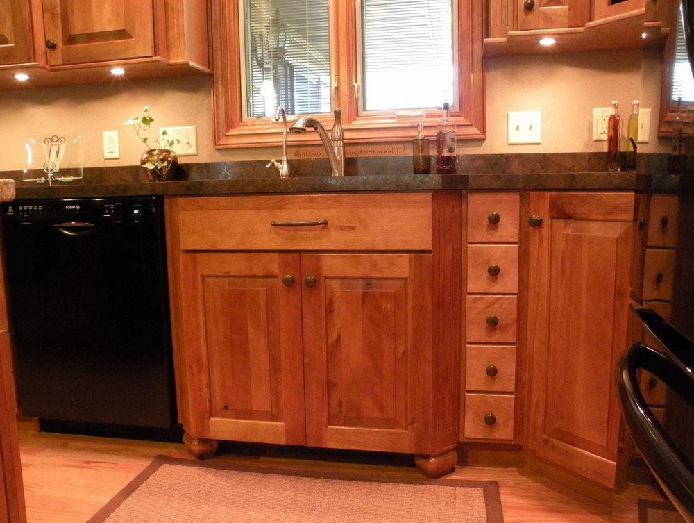 Red Birch Kitchen Cabinets