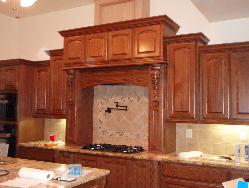 Red Oak Cabinets Kitchen