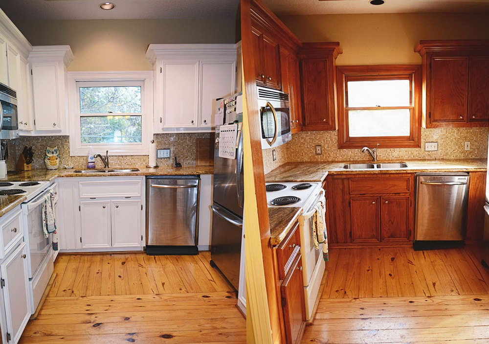 Redo Kitchen Cabinets Before And After