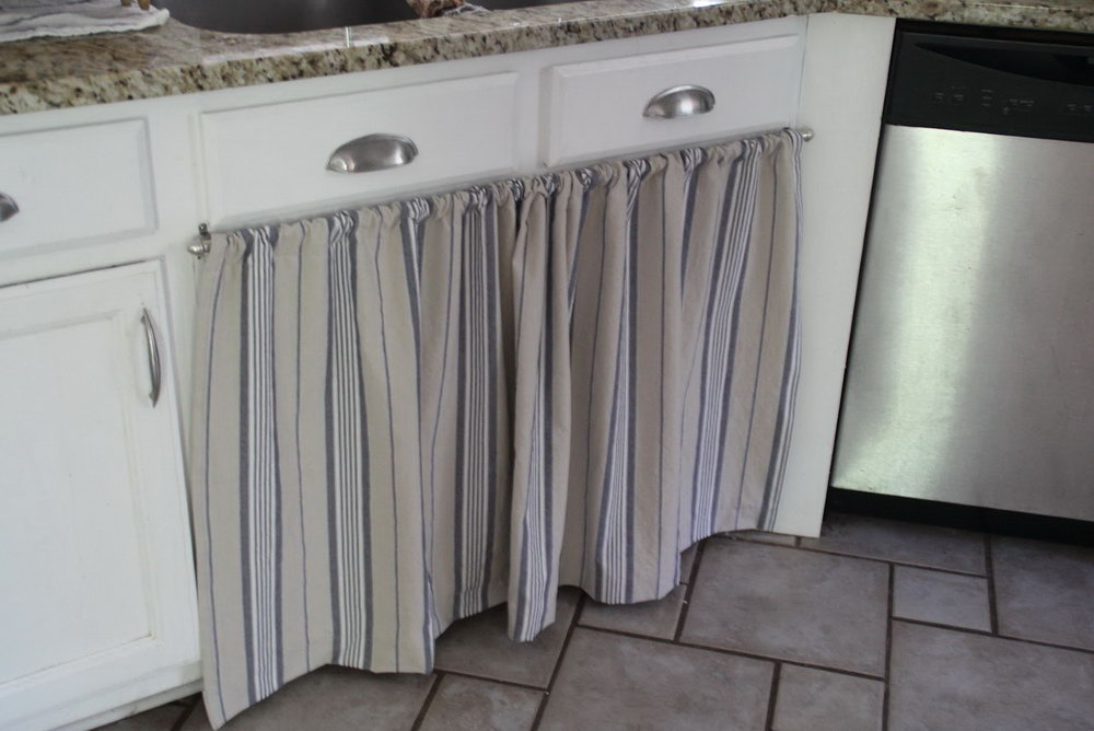 Replace Kitchen Cabinet Doors With Curtains