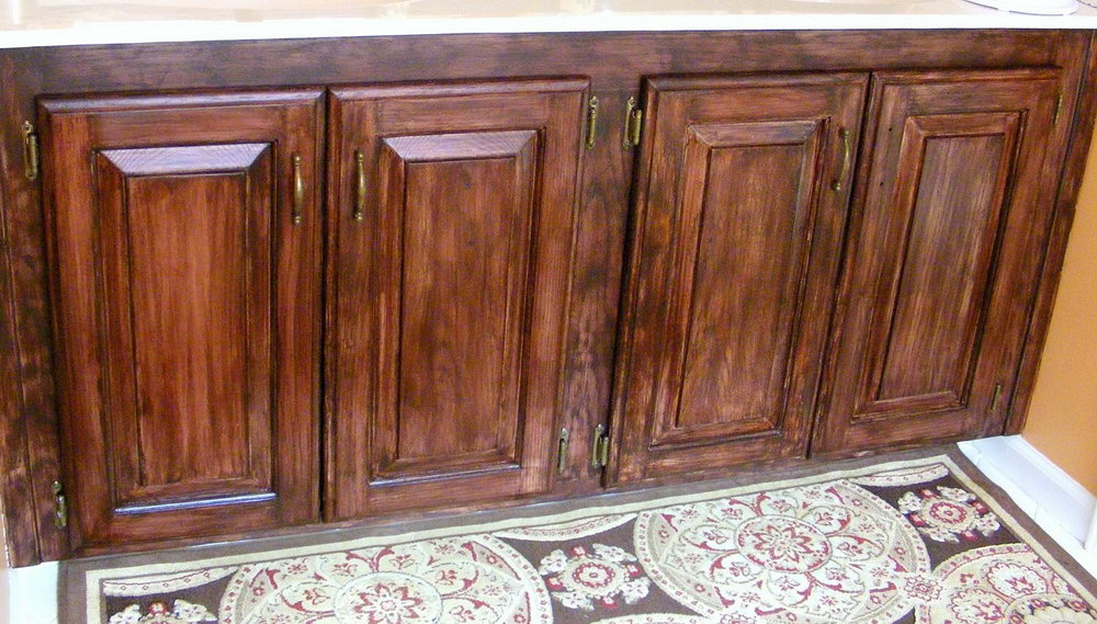 Restain Kitchen Cabinets Without Stripping