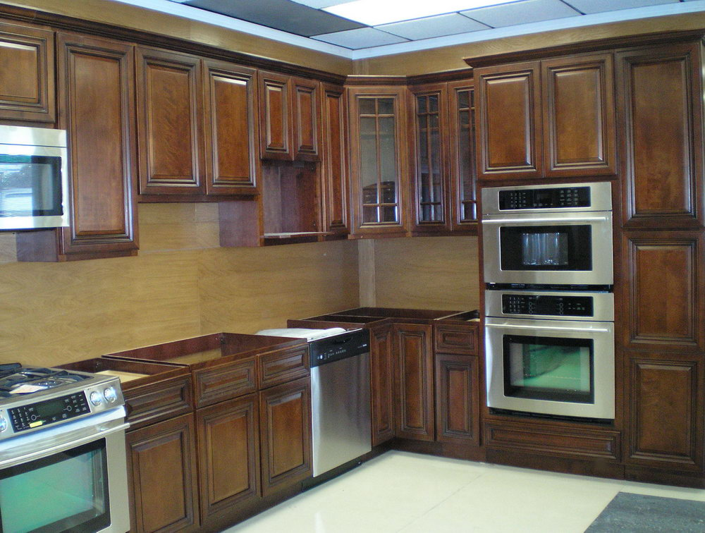 Restaining Kitchen Cabinets Before And After