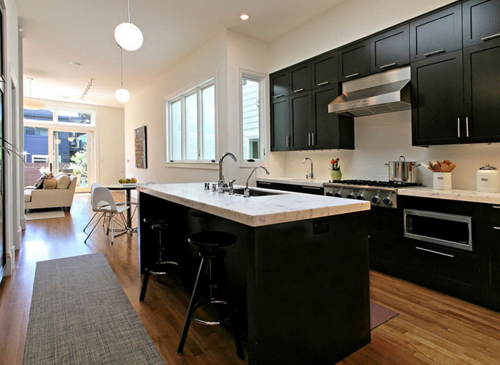 Small Kitchen Black Cabinets