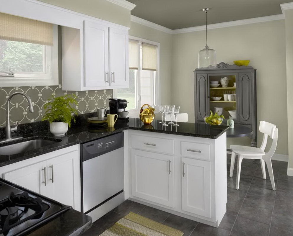 Small Kitchen Paint Colors With White Cabinets