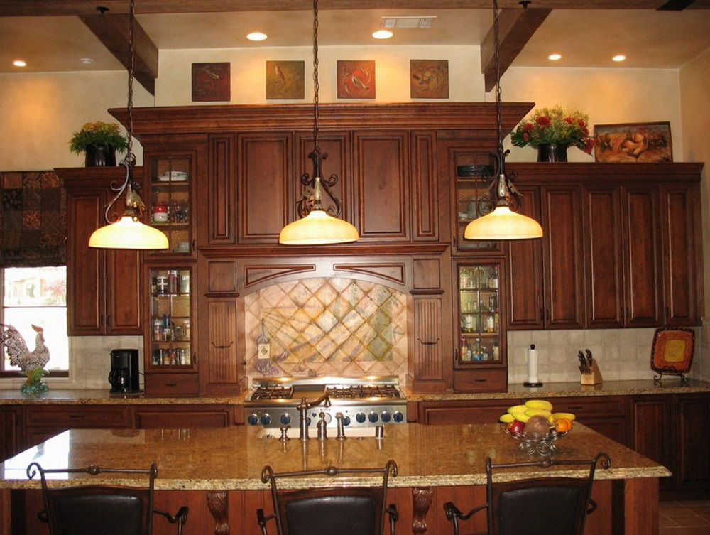 Space Above Kitchen Cabinet Decorating Ideas