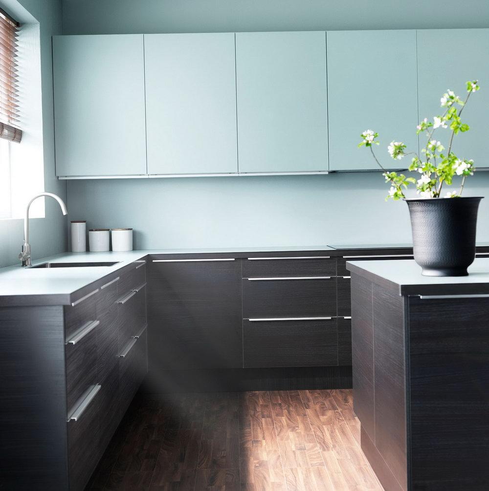 Turquoise Ikea Kitchen Cabinets